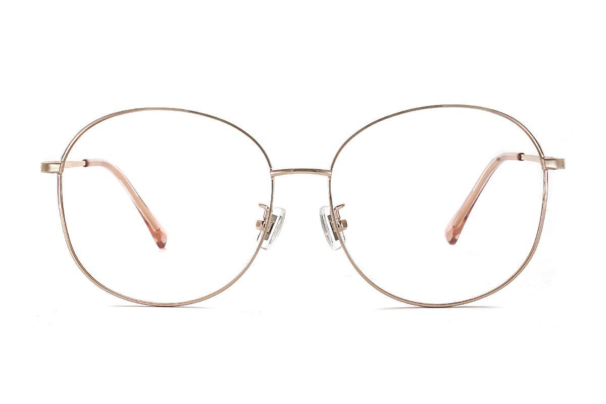 玫瑰金復古眼鏡 61003-C72