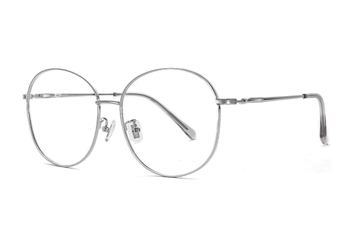 銀色復古眼鏡 61003-C21