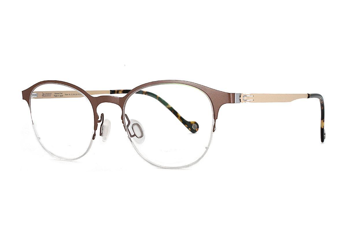 嚴選日製薄鋼眼鏡 F2S-7502-C721