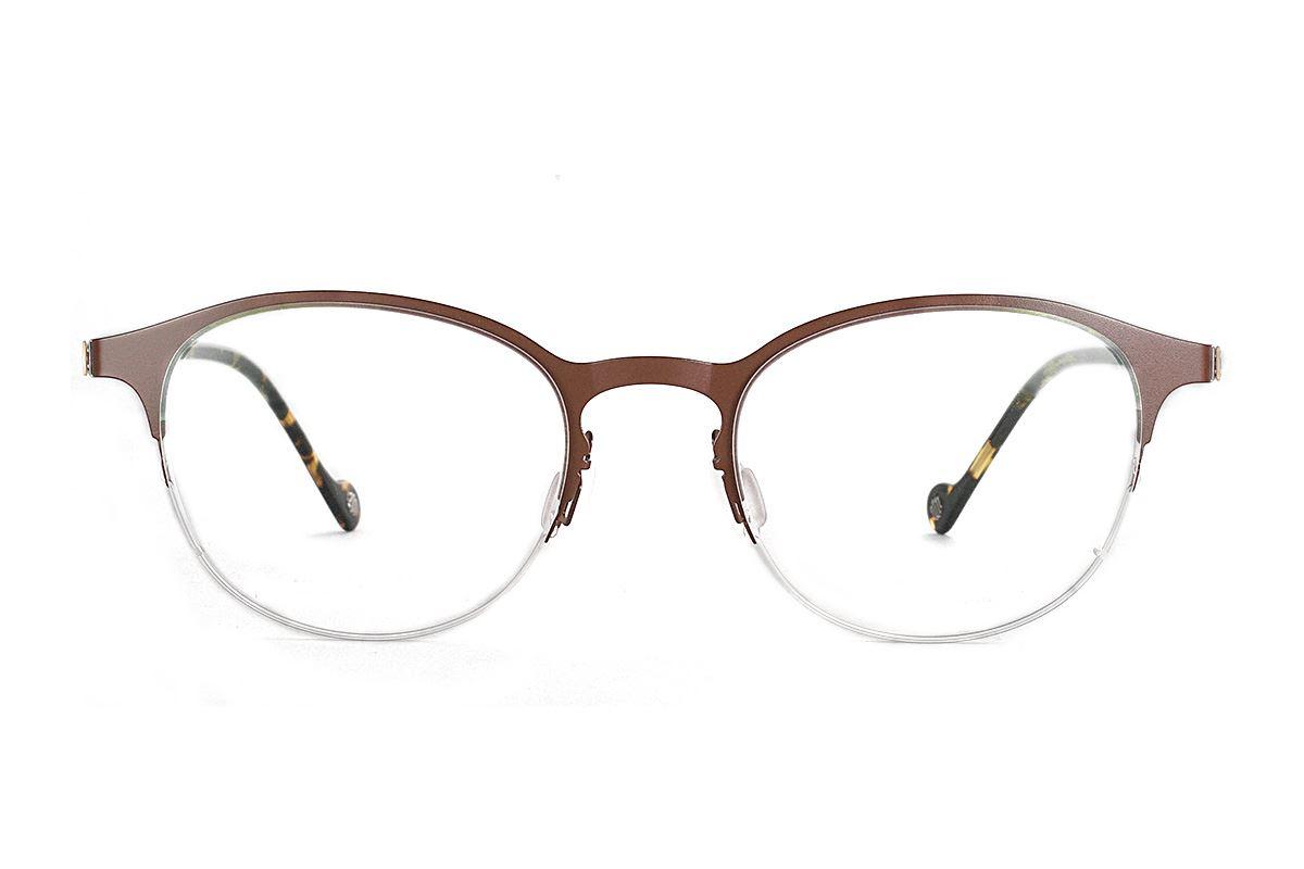 嚴選日製薄鋼眼鏡 F2S-7502-C722