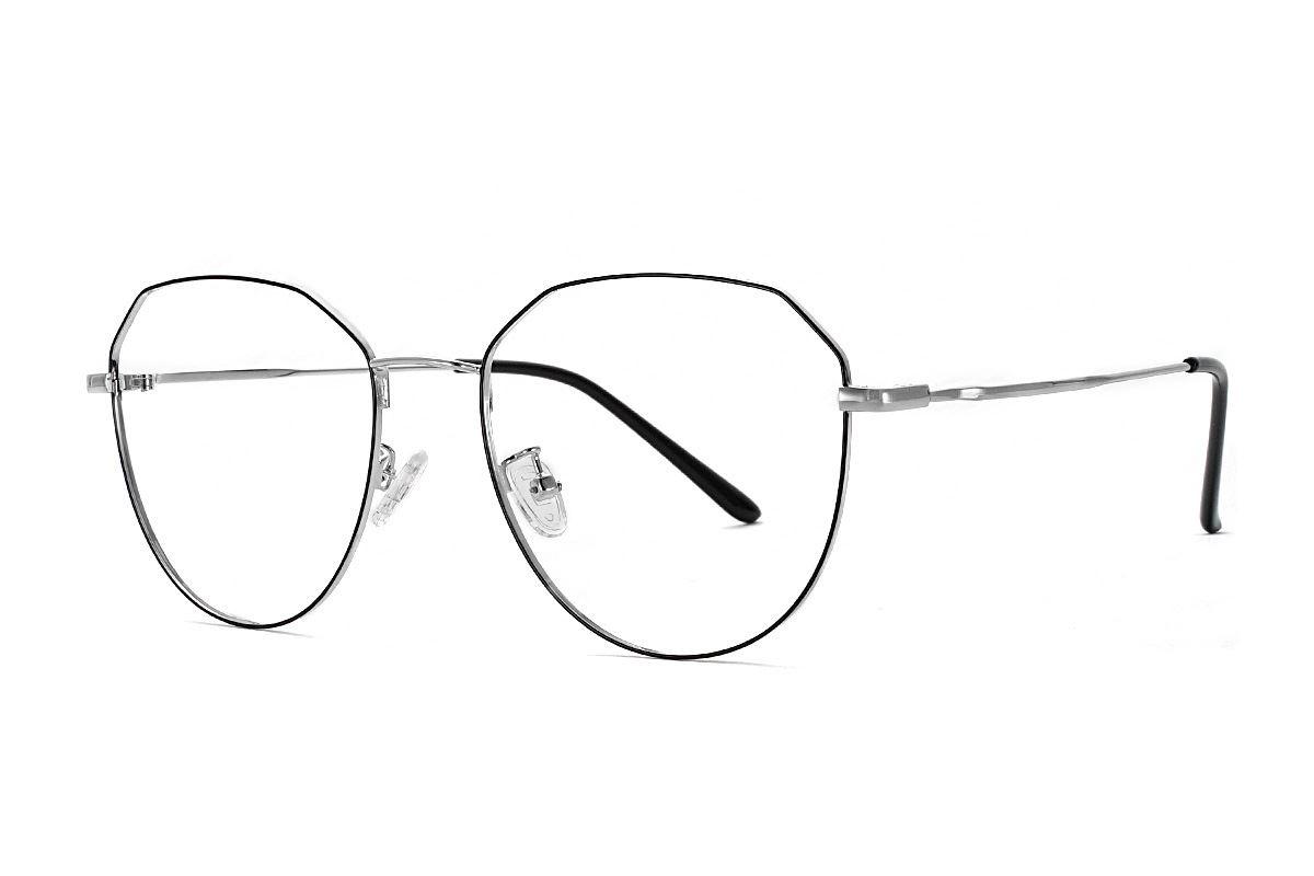 稜角黑銀色眼鏡 F61006-C31