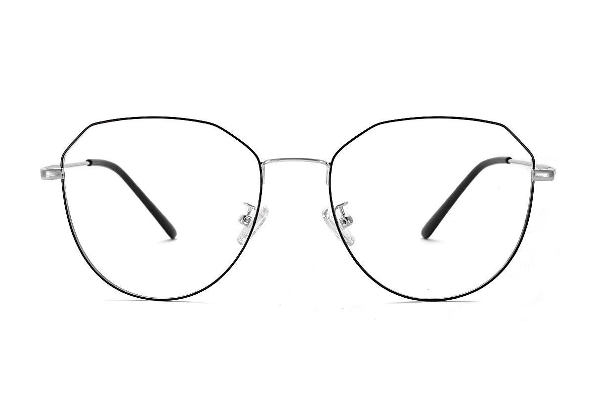 稜角黑銀色眼鏡 F61006-C32