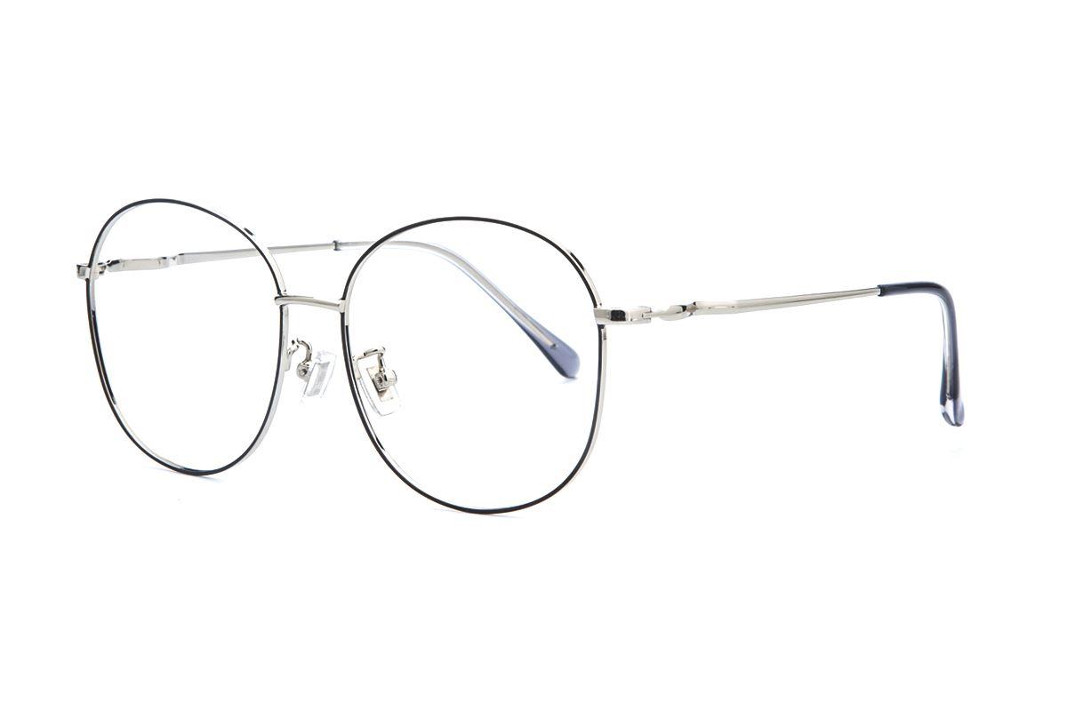 黑银复古眼镜 61003-C101