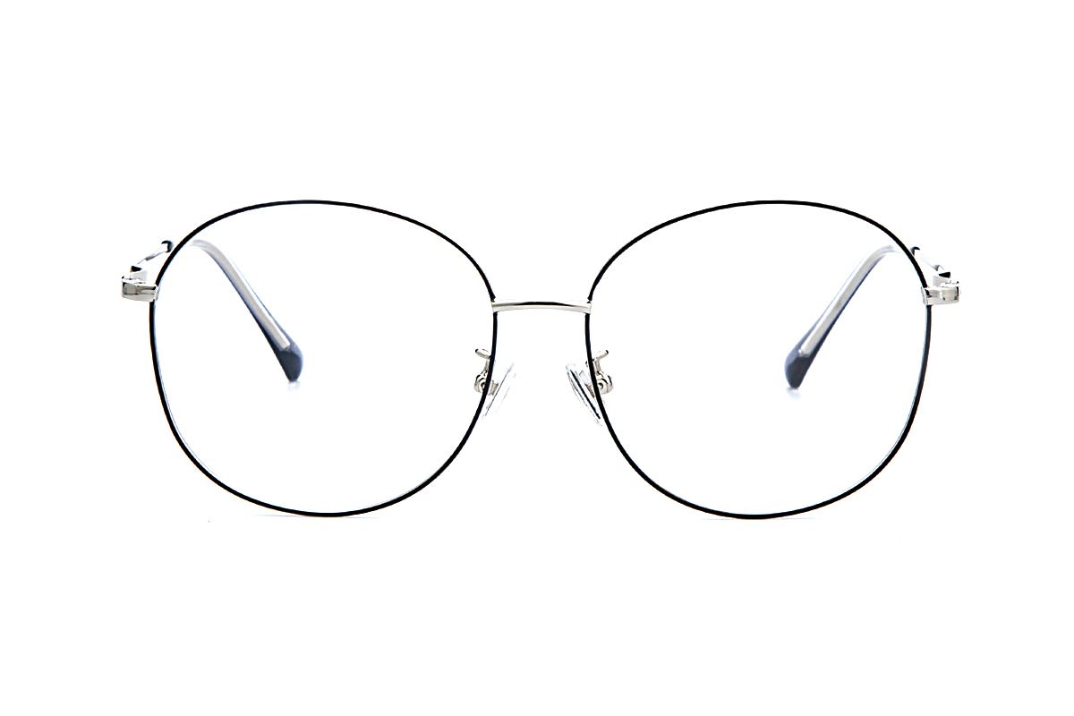 黑银复古眼镜 61003-C102