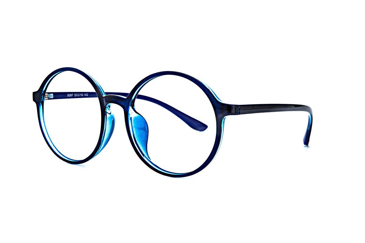 大圆蓝色镜框 5087-0051