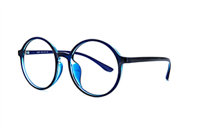 眼鏡鏡框-大圓藍色鏡框 5087-005