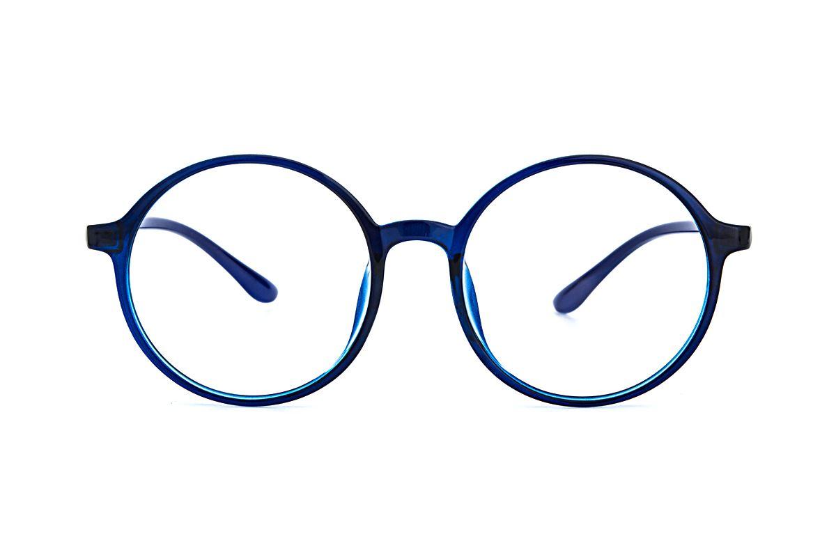 大圆蓝色镜框 5087-0052