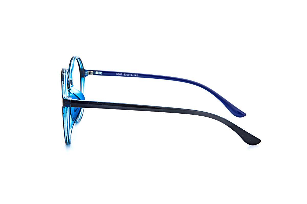 大圆蓝色镜框 5087-0053