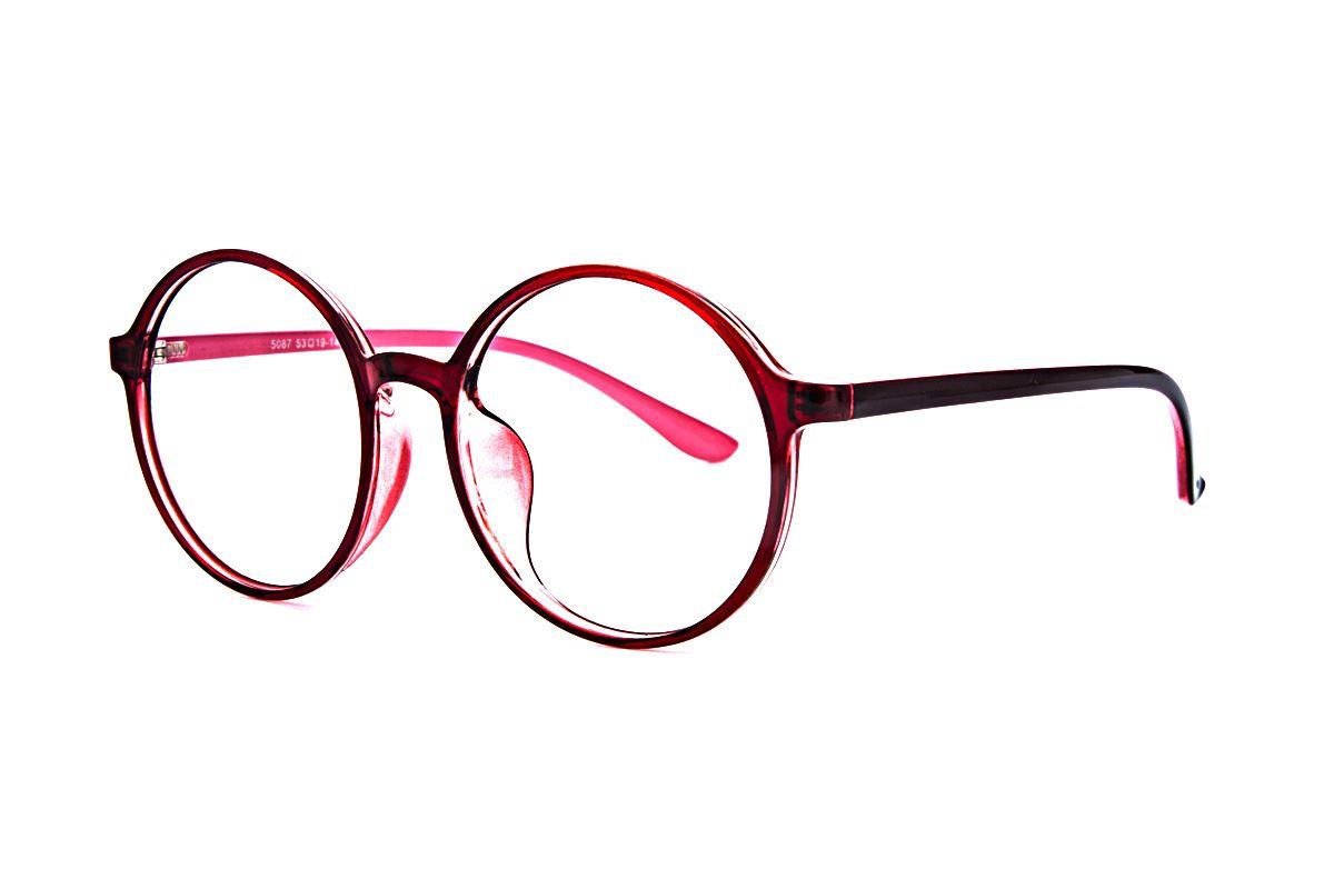 大圆红色镜框 5087-0041