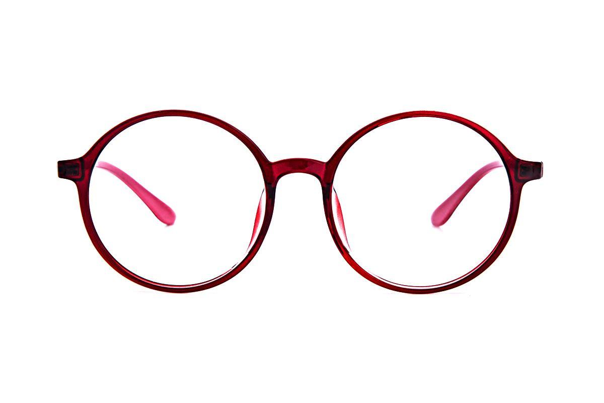 大圆红色镜框 5087-0042