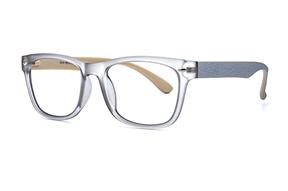 眼鏡鏡框-透明灰TR鏡框 1014-016