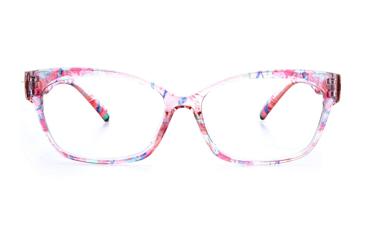 粉透明花紋TR鏡框 2063-0122
