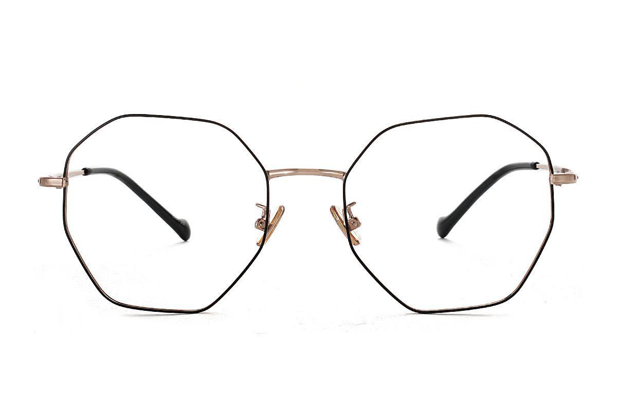 八角黑金細框眼鏡 FV637-C102