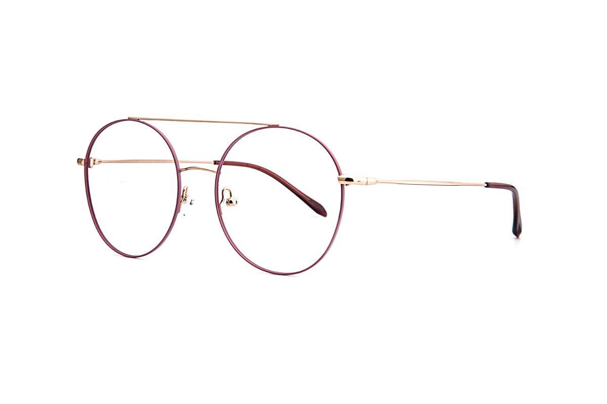 復古粉紫色細框眼鏡 88001-C51