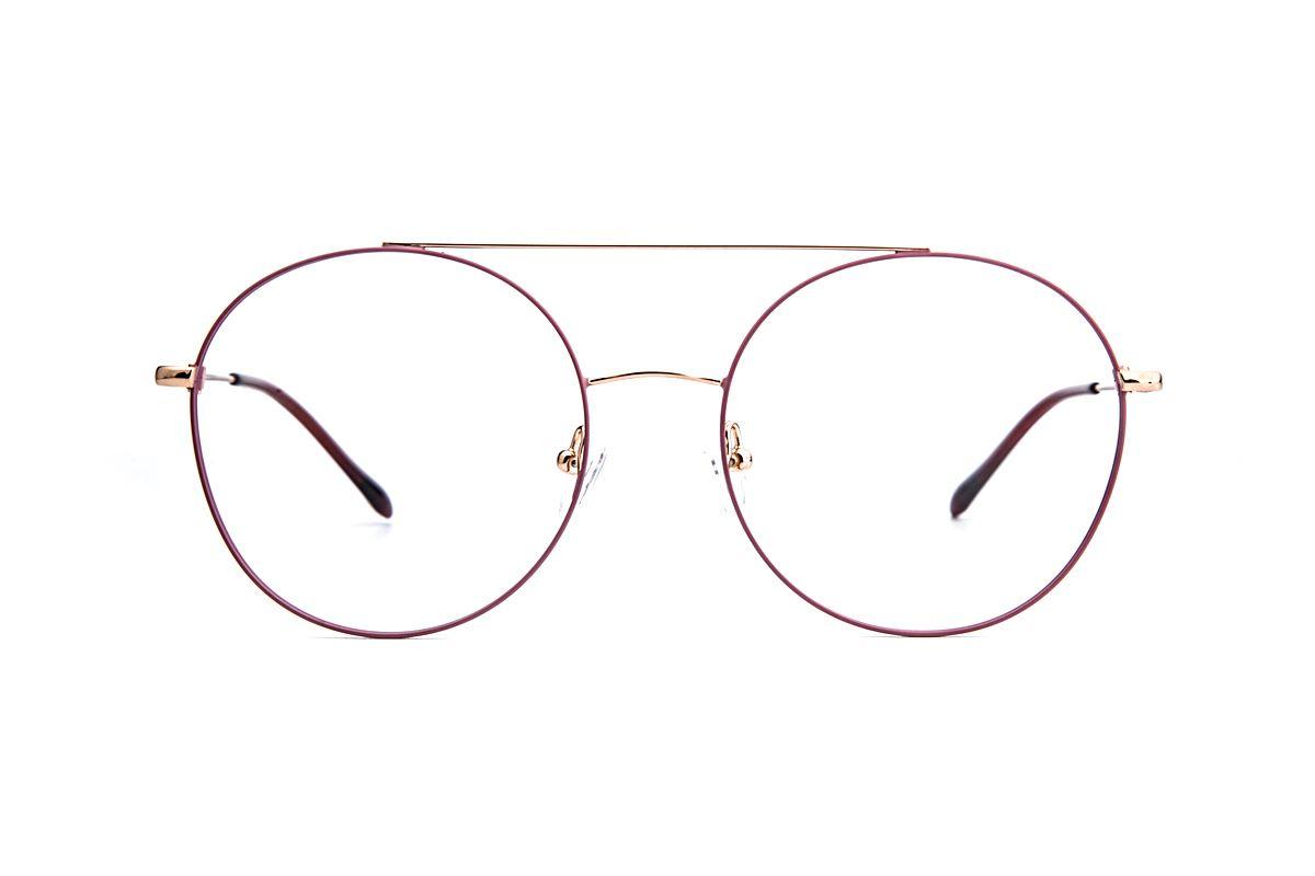 復古粉紫色細框眼鏡 88001-C52
