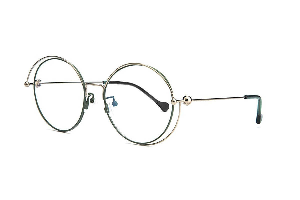 復古大圓細框眼鏡 88030-C21