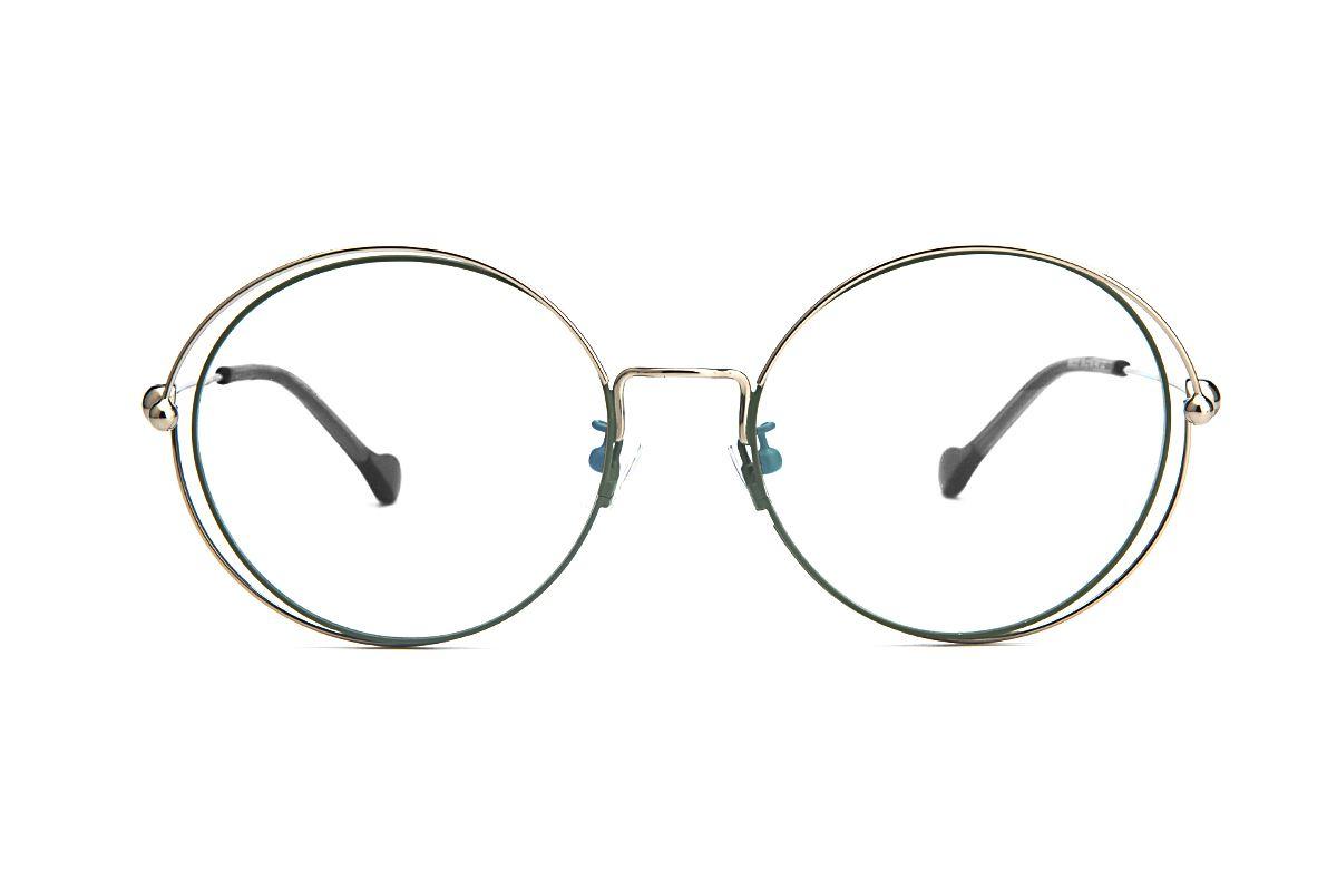 復古大圓細框眼鏡 88030-C22
