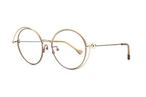 眼鏡鏡框-復古大圓細框眼鏡 88030-C1