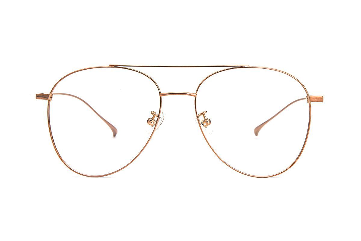飞行员钛细框眼镜 V9060-C322