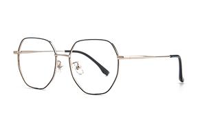眼鏡鏡框-稜角鈦細框眼鏡 90082-C01