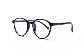 眼镜镜框-圆形胶框抗蓝光眼镜 8393-C1