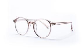 眼镜镜框-圆形胶框抗蓝光眼镜 8393-C3