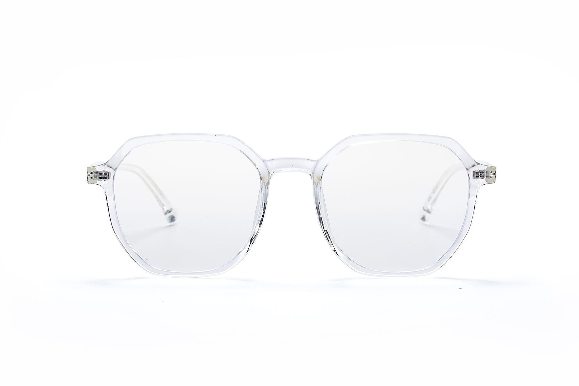 方形胶框抗蓝光眼镜 8399-C52
