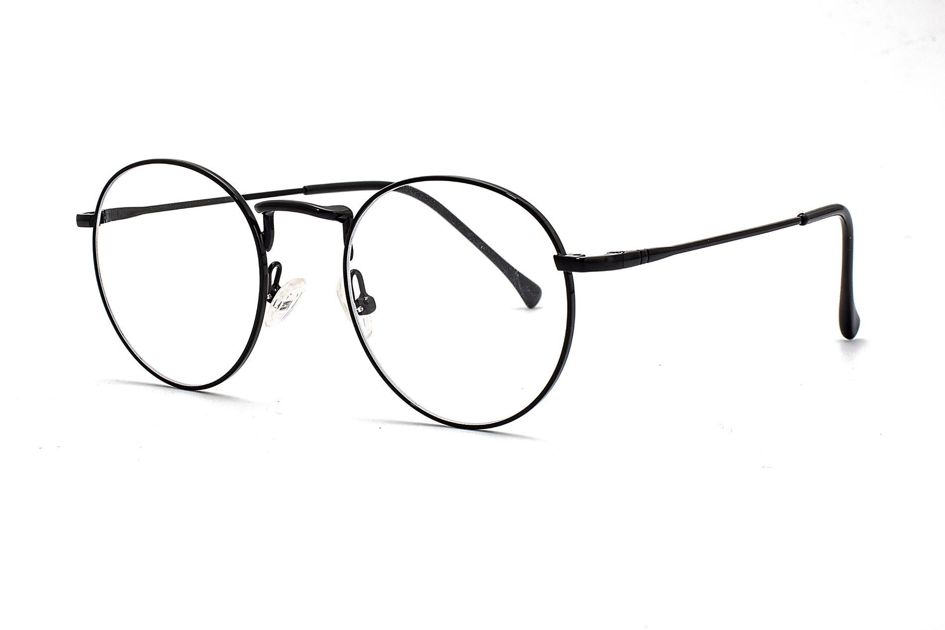 金属圆框抗蓝光眼镜 66006-C11