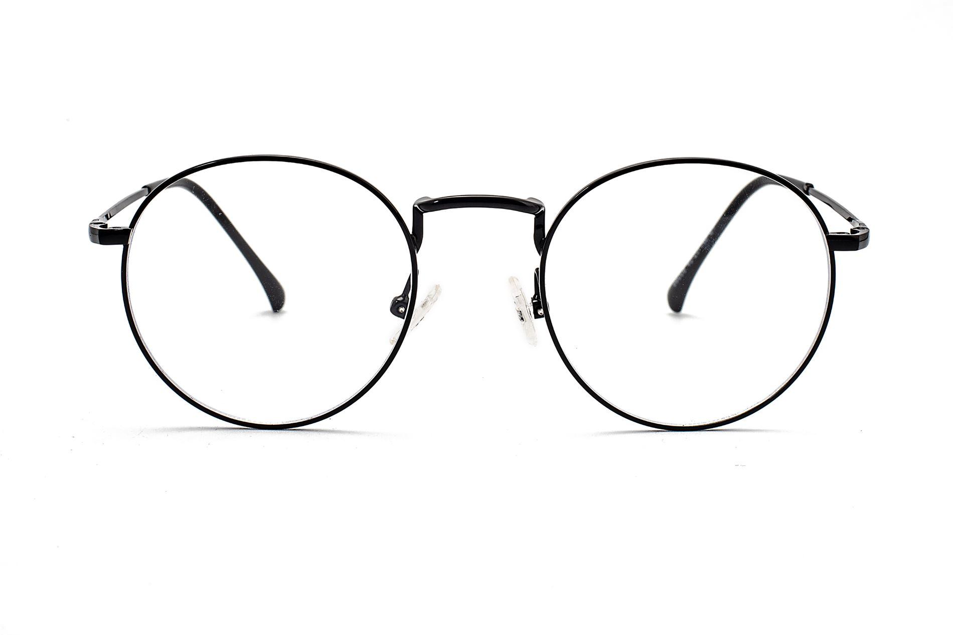金属圆框抗蓝光眼镜 66006-C12