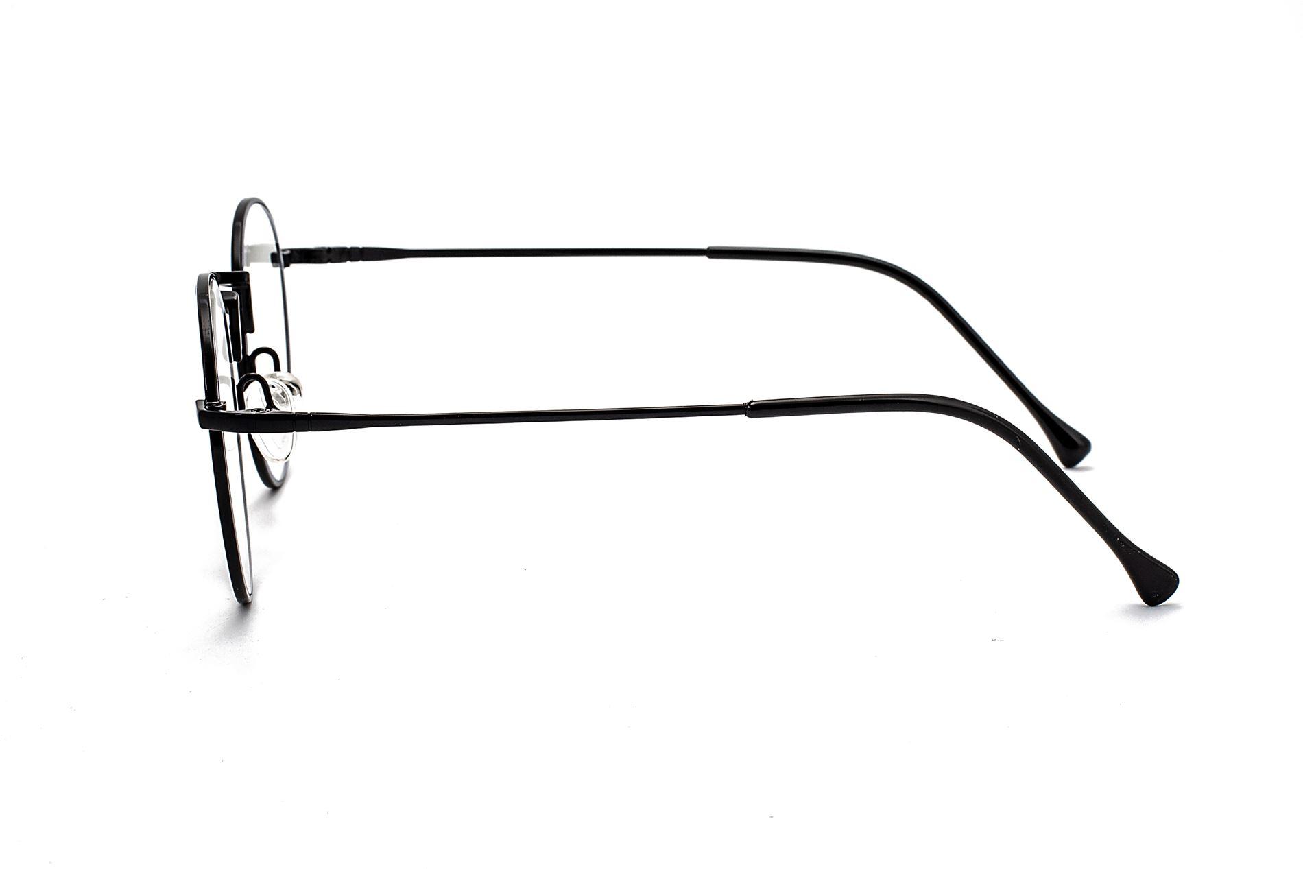 金属圆框抗蓝光眼镜 66006-C13