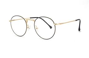 眼镜镜框-金属圆框抗蓝光眼镜 66006-C6