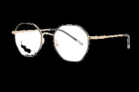 眼镜镜框-金属多角形抗蓝光眼镜 88011-C6