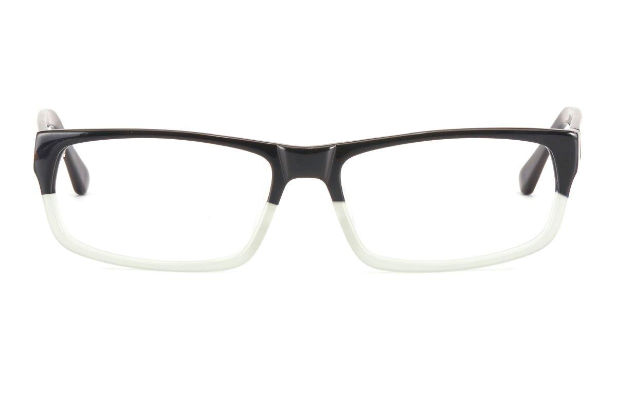 潮流時尚雙色TR膠框(1057黑透明)2