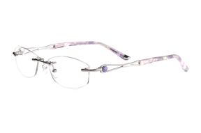 眼镜镜框-FG 金属镜框 58033-PU