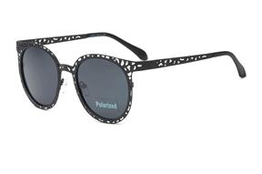 太陽眼鏡-嚴選雕花偏光墨鏡 WLH402-BA