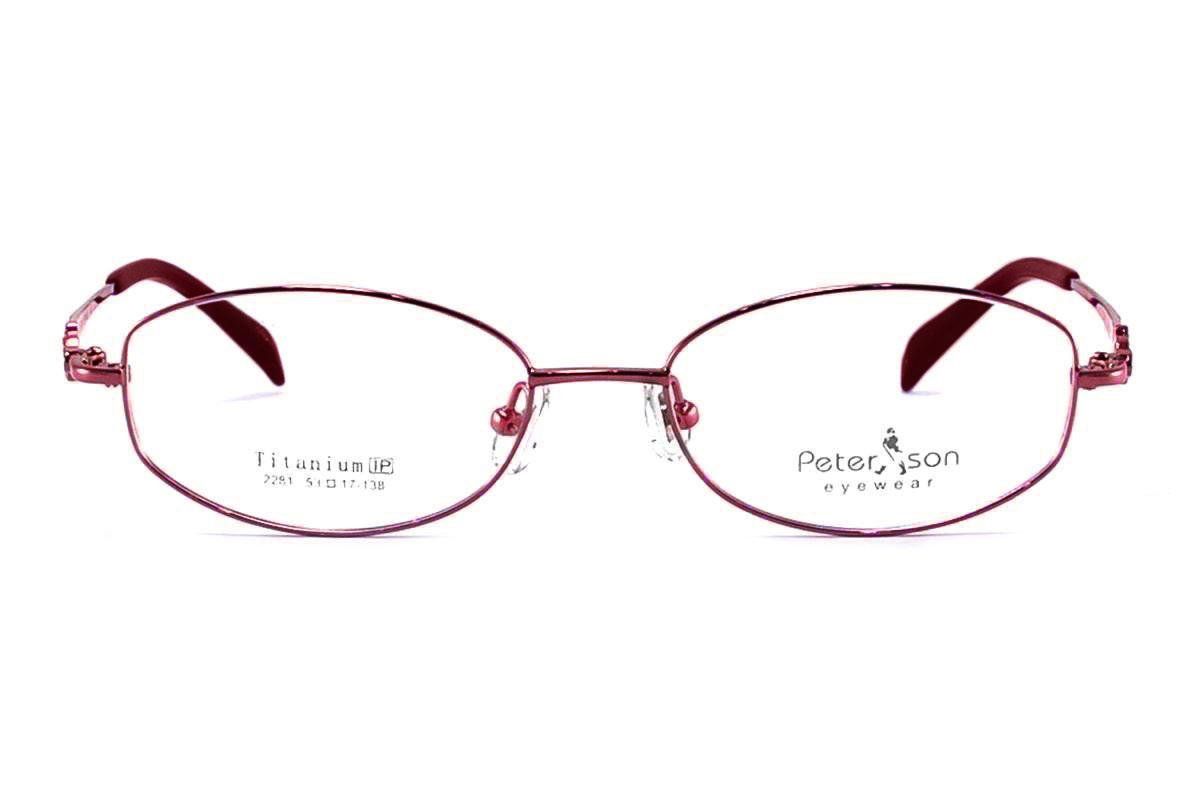 嚴選時尚淑女鈦眼鏡 2281-RE2