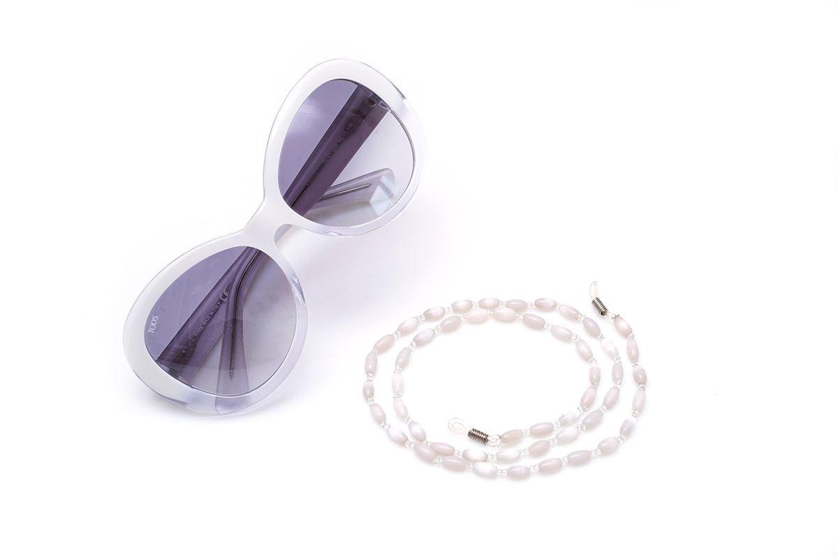 白色串珠眼镜炼1
