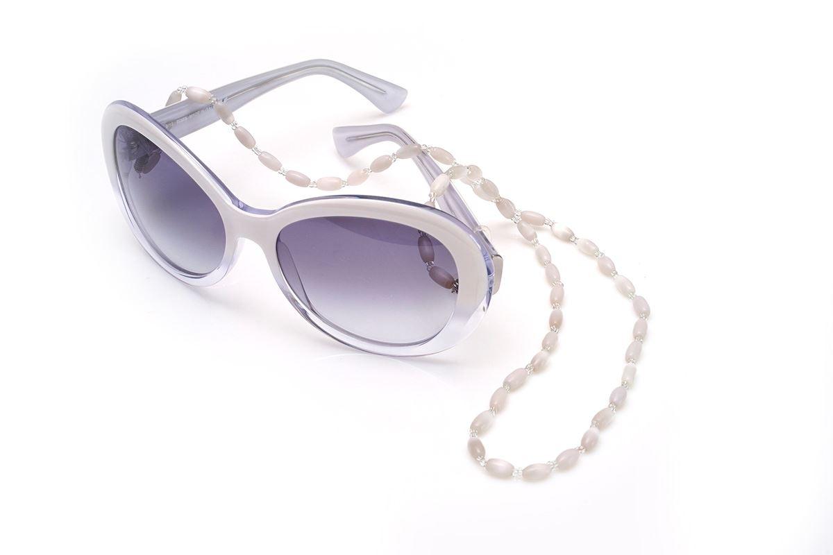 白色串珠眼镜炼3