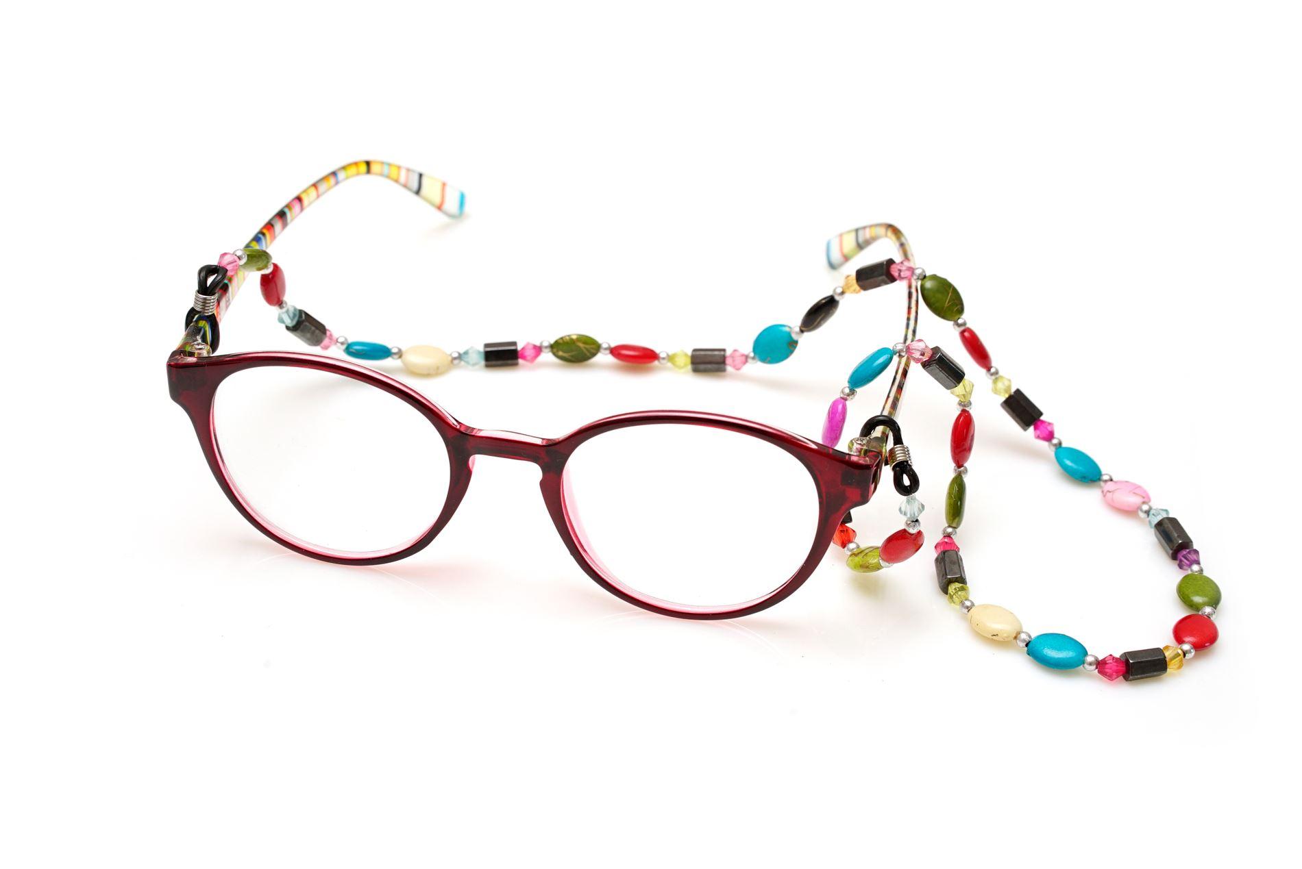 彩色串珠眼鏡鍊1