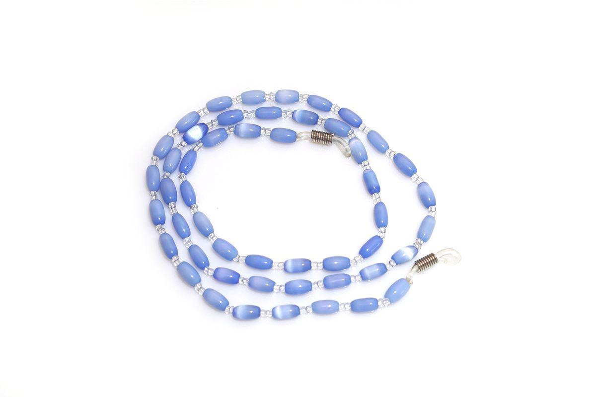 蓝色串珠眼镜炼2