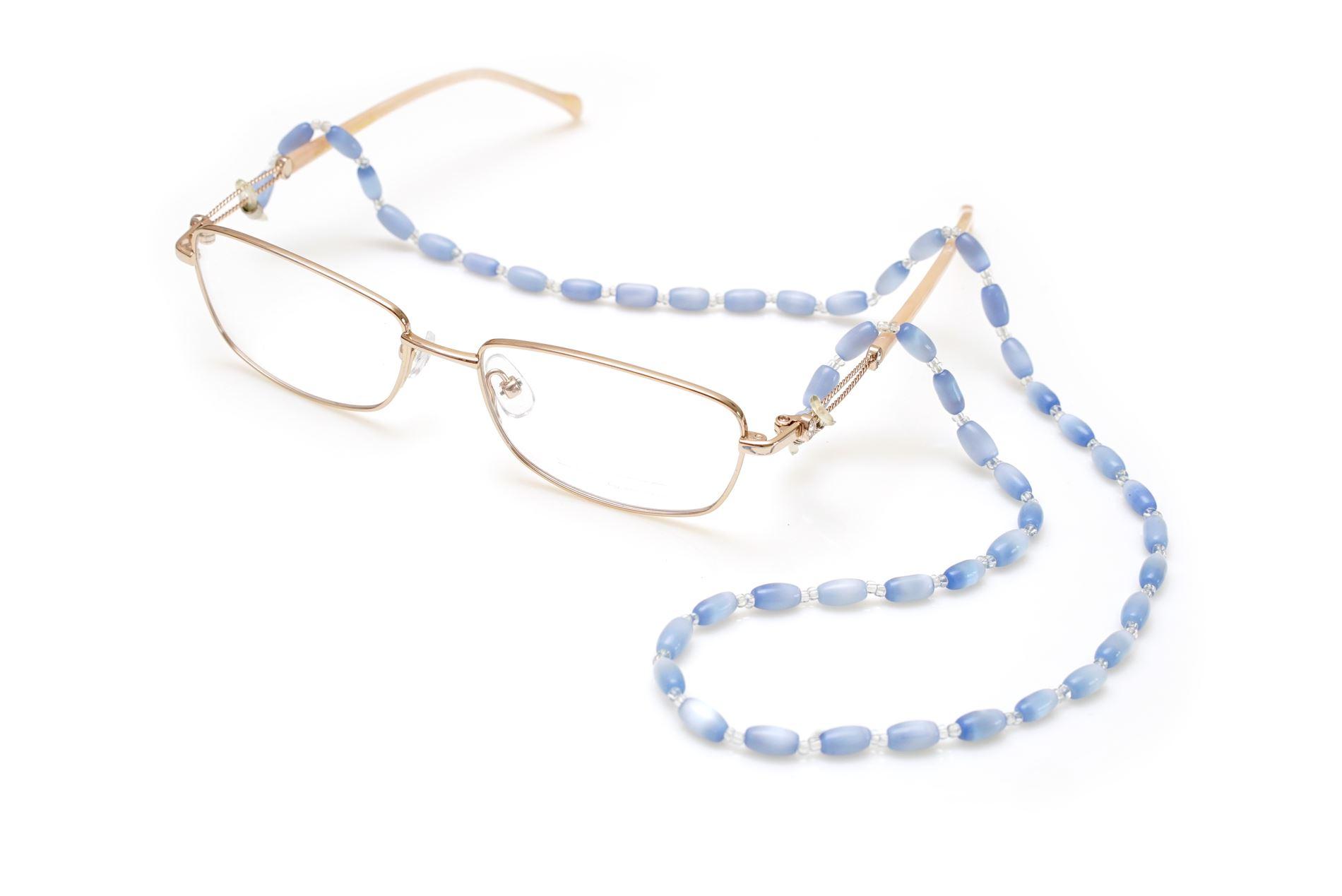 蓝色串珠眼镜炼1