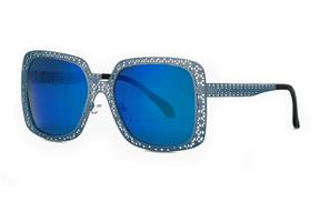 太陽眼鏡-嚴選縷空偏光墨鏡 WLH400-BU