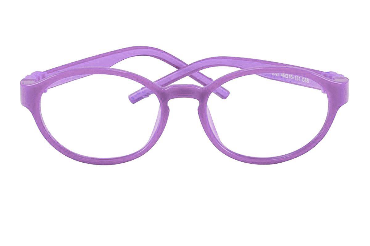 兒童全矽膠雙色鏡框(B5021紫)2