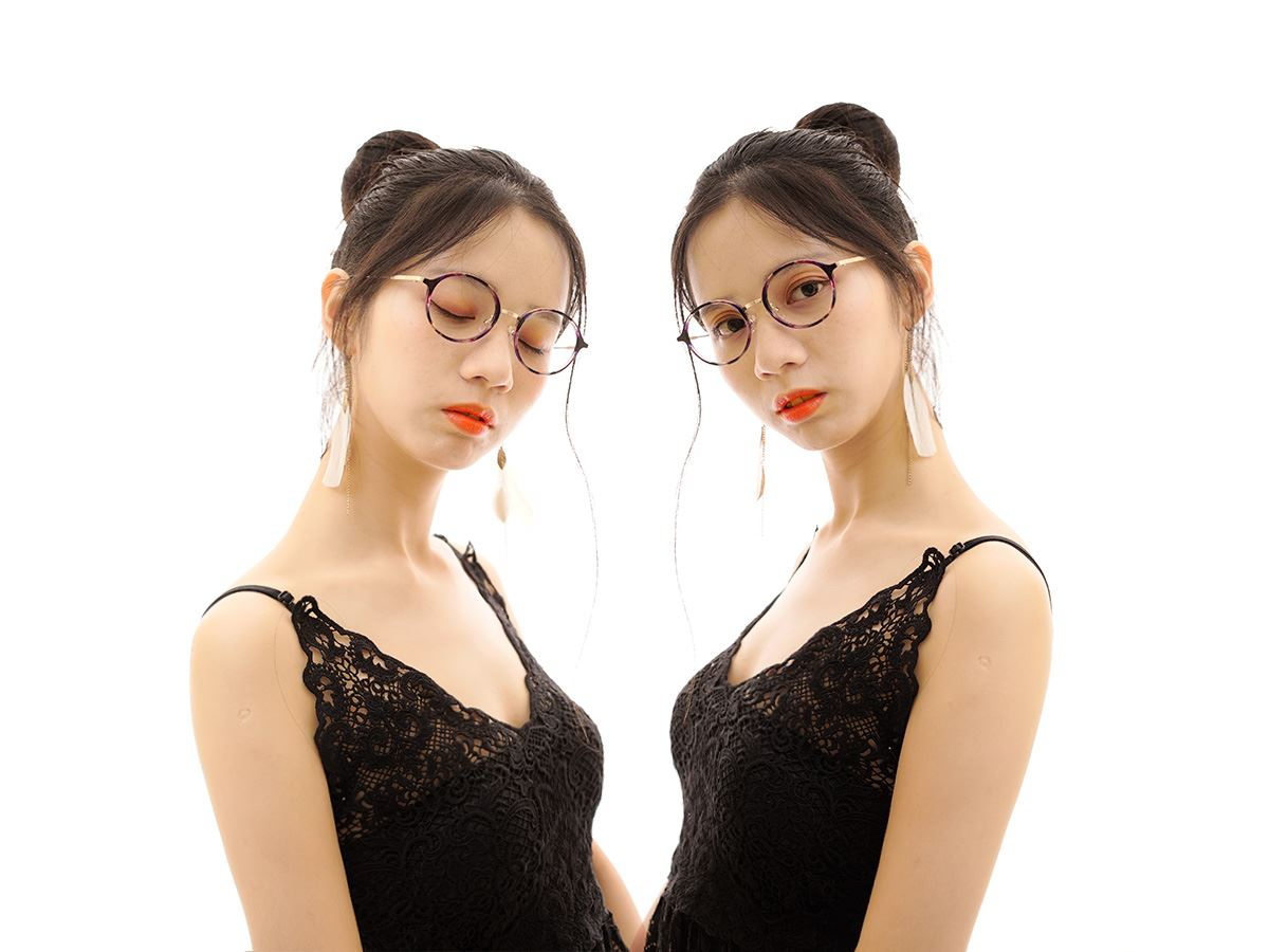 嚴選複合質感眼鏡 FL3458-PU4
