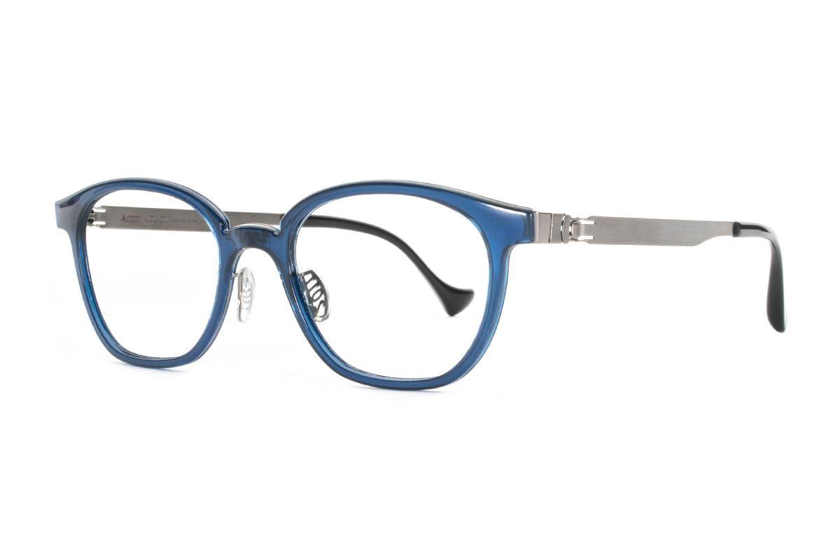 嚴選日製薄鋼眼鏡 F2RM-1603-BU1